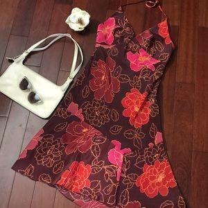 Asymmetric floral dress by Express